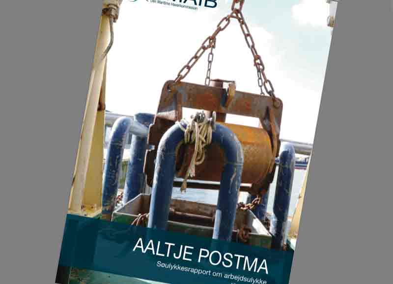 Søulykkesrapport om arbejdsulykke på »AALTJE POSTMA« den 15. marts 2018